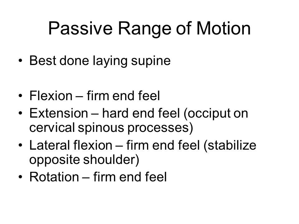 Passive Range of Motion