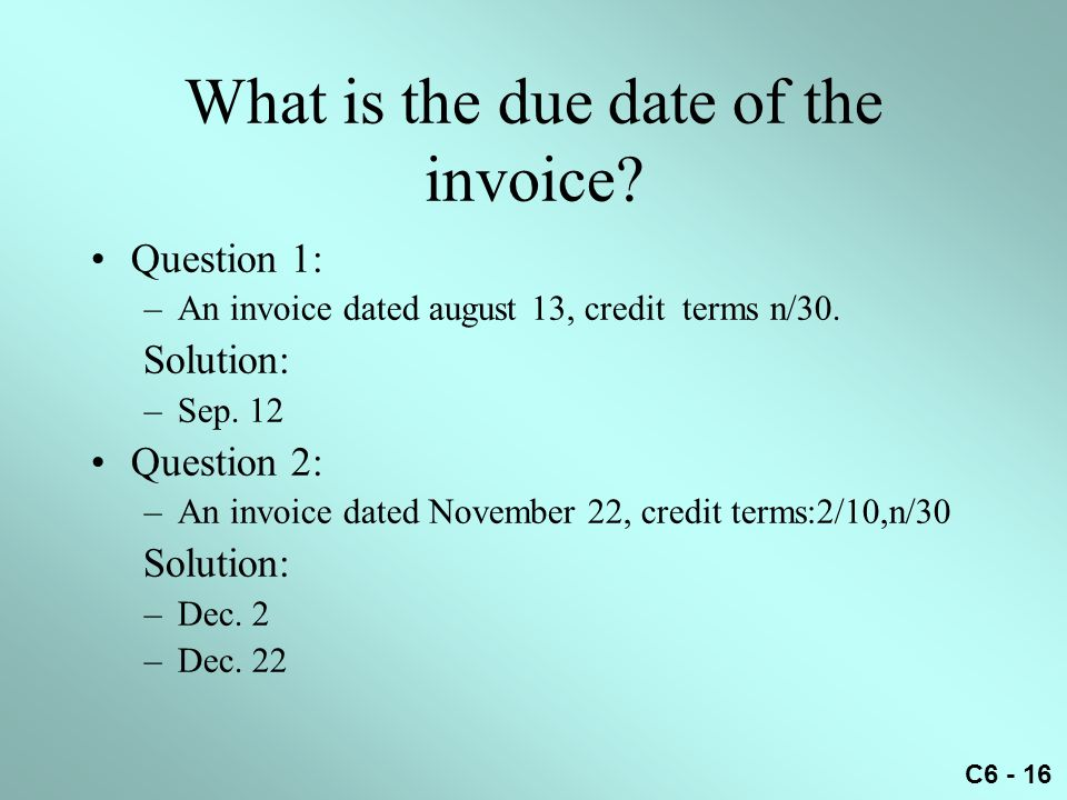 What is the due date of the invoice