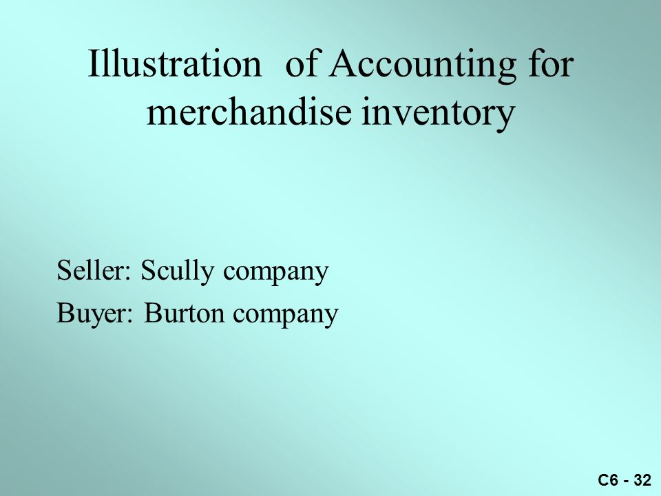 Illustration of Accounting for merchandise inventory