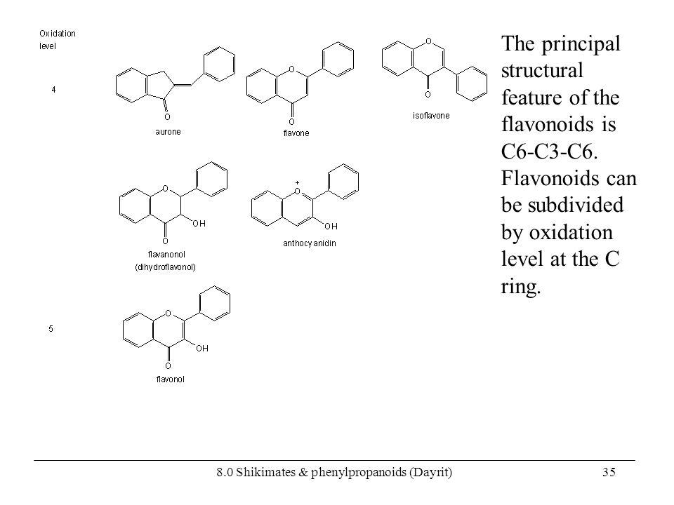 8.0 Shikimates & phenylpropanoids (Dayrit)