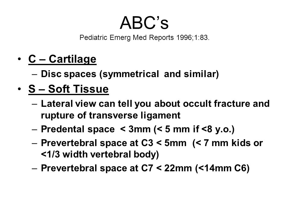 ABC's Pediatric Emerg Med Reports 1996;1:83.