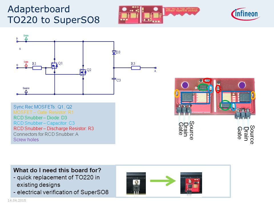 Adapterboard TO220 to SuperSO8