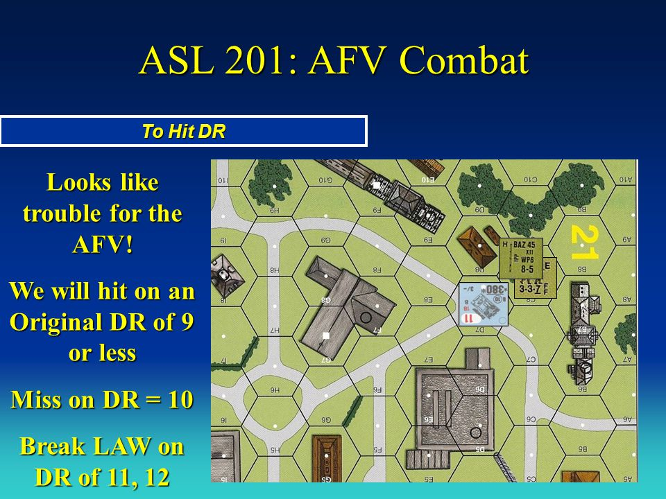 ASL 201: AFV Combat Looks like trouble for the AFV!