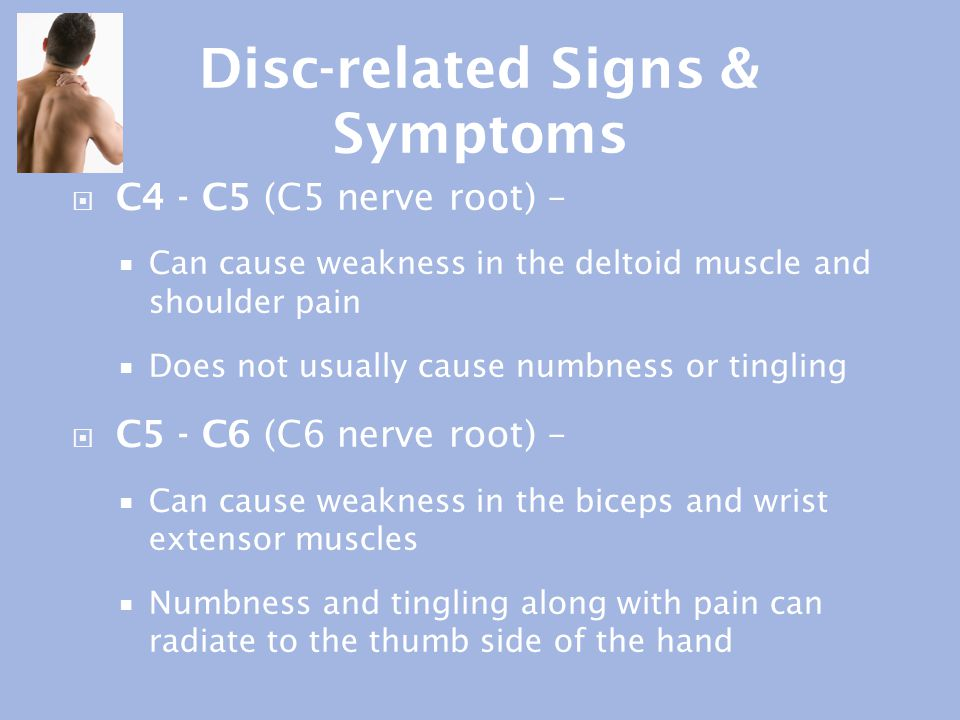 Disc-related Signs & Symptoms