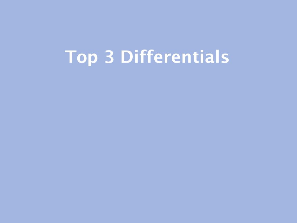 Top 3 Differentials