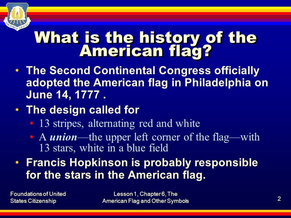 What is the history of the American flag