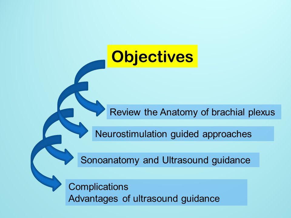 Objectives Review the Anatomy of brachial plexus