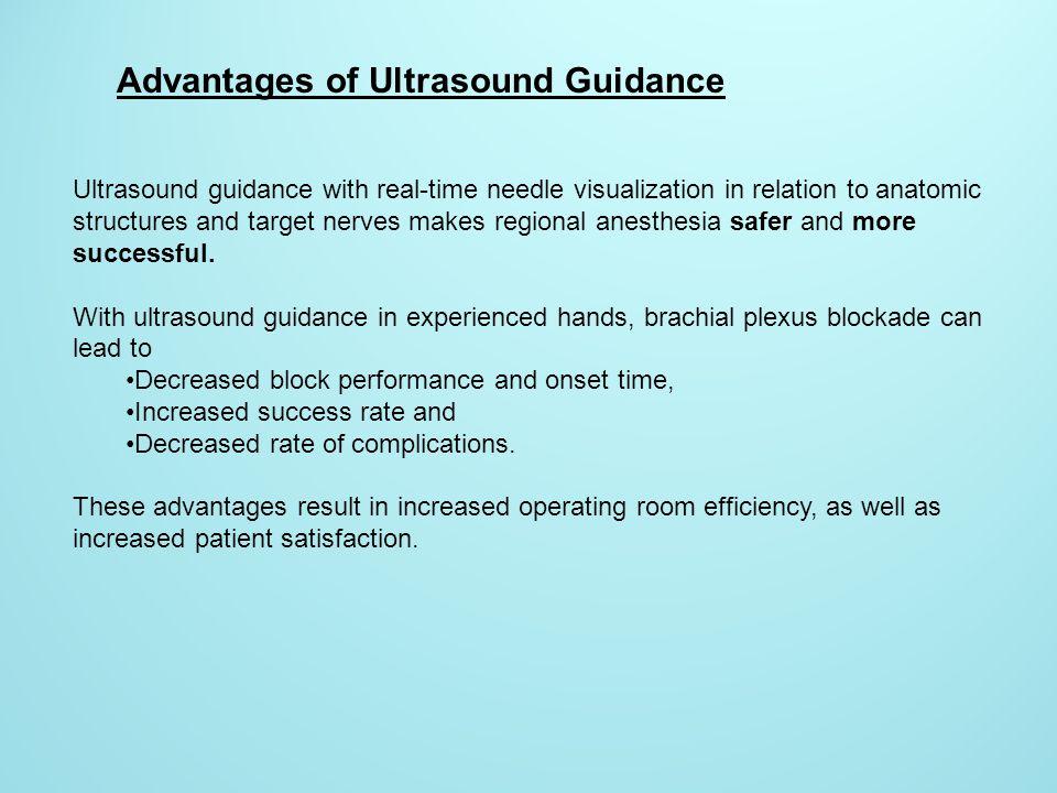 Advantages of Ultrasound Guidance