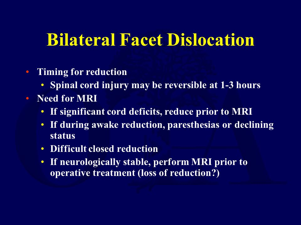 Bilateral Facet Dislocation