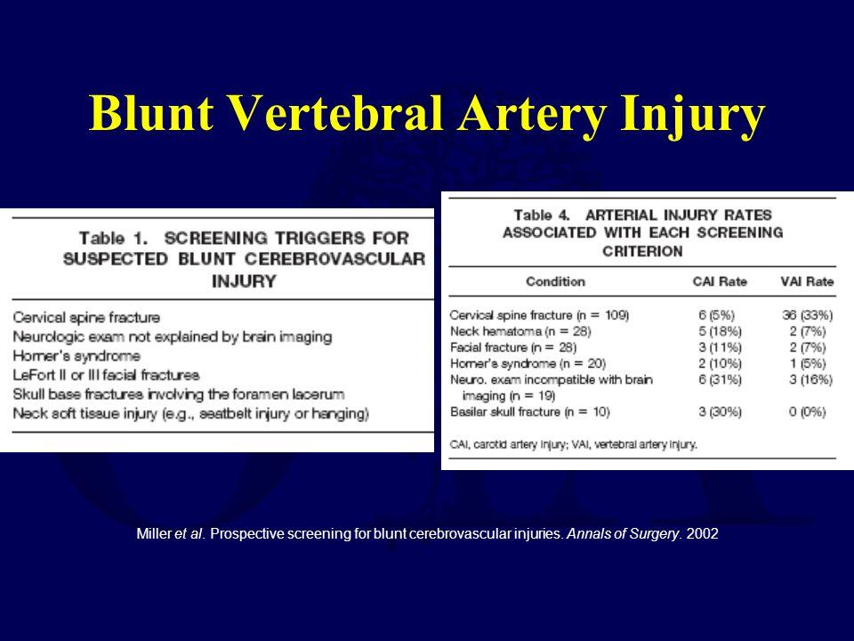 Blunt Vertebral Artery Injury