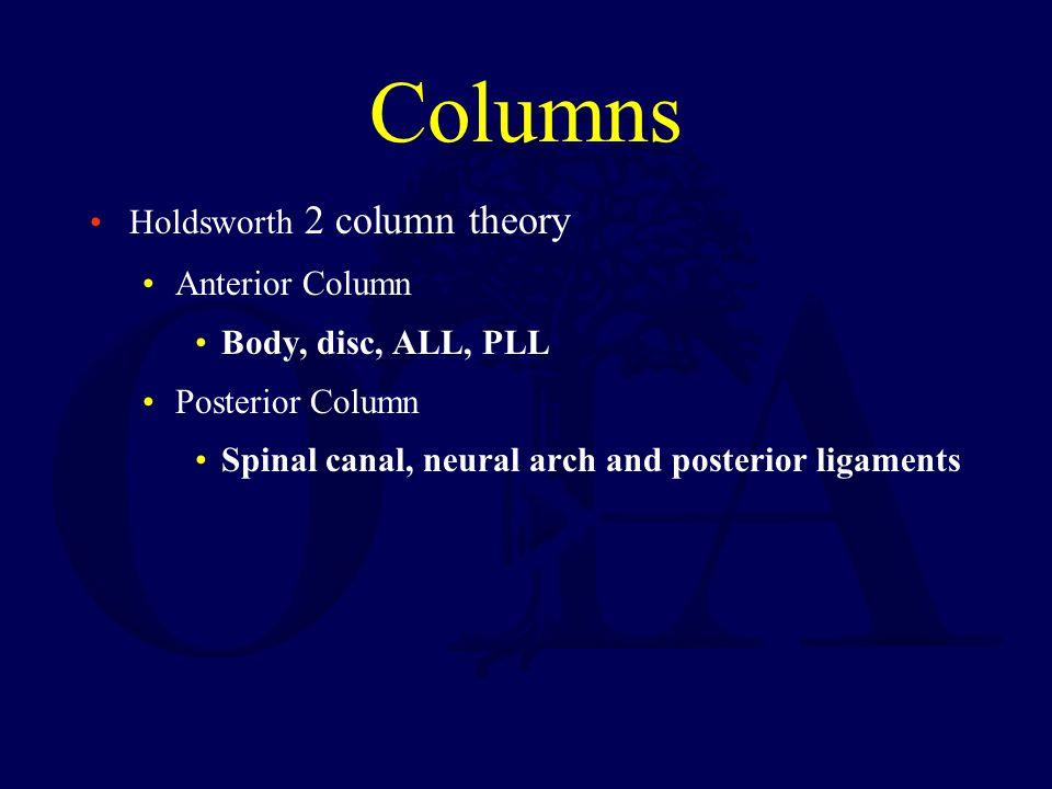 Columns Holdsworth 2 column theory Anterior Column