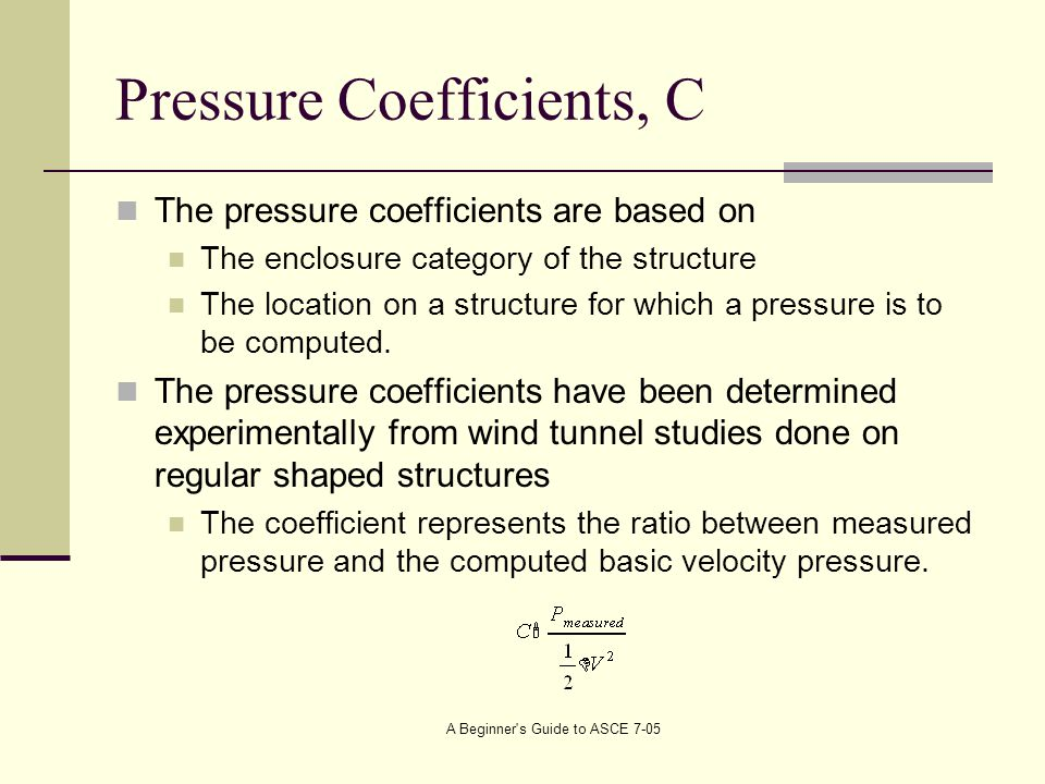 Pressure Coefficients, C