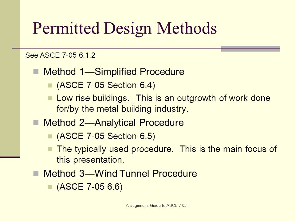 Permitted Design Methods