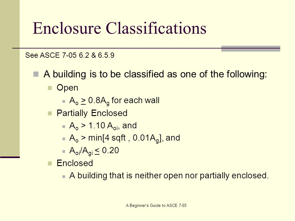 Enclosure Classifications