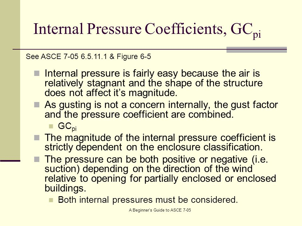 Internal Pressure Coefficients, GCpi
