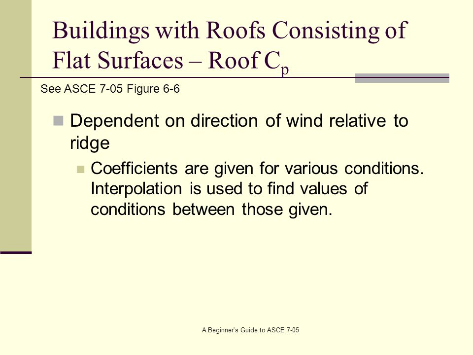 Buildings with Roofs Consisting of Flat Surfaces – Roof Cp