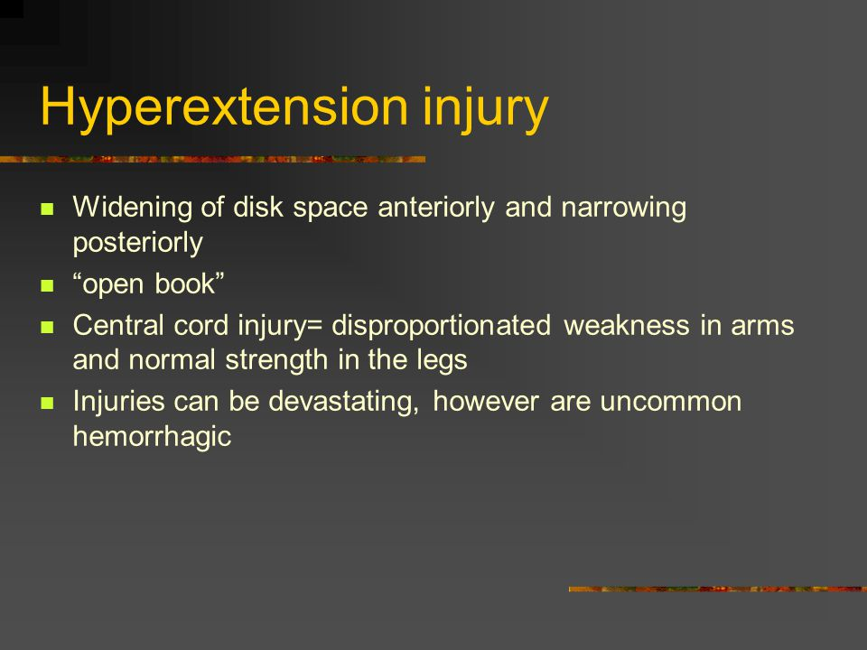 Hyperextension injury