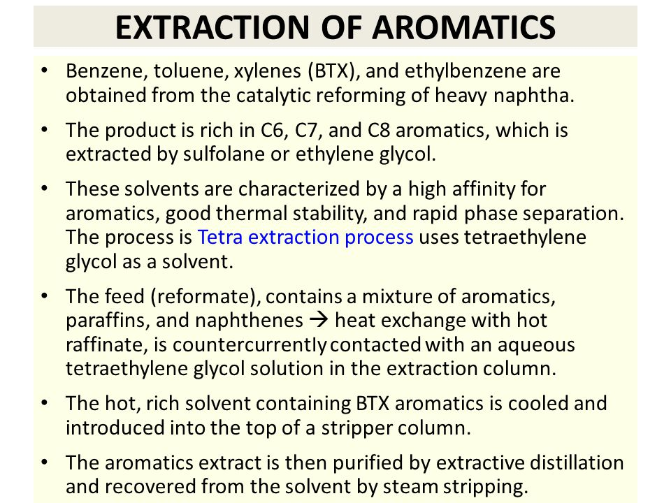 EXTRACTION OF AROMATICS