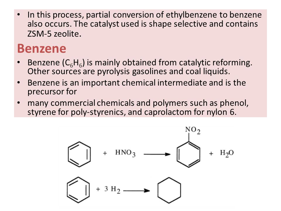 In this process, partial conversion of ethylbenzene to benzene also occurs. The catalyst used is shape selective and contains ZSM-5 zeolite.