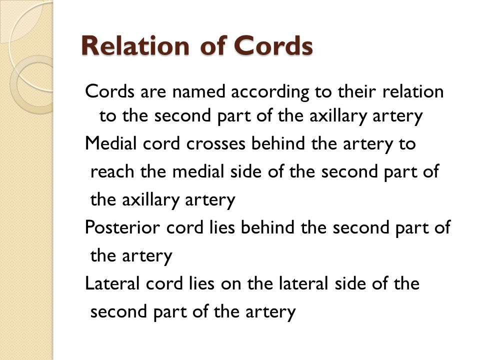 Relation of Cords