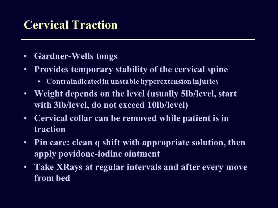 Cervical Traction Gardner-Wells tongs