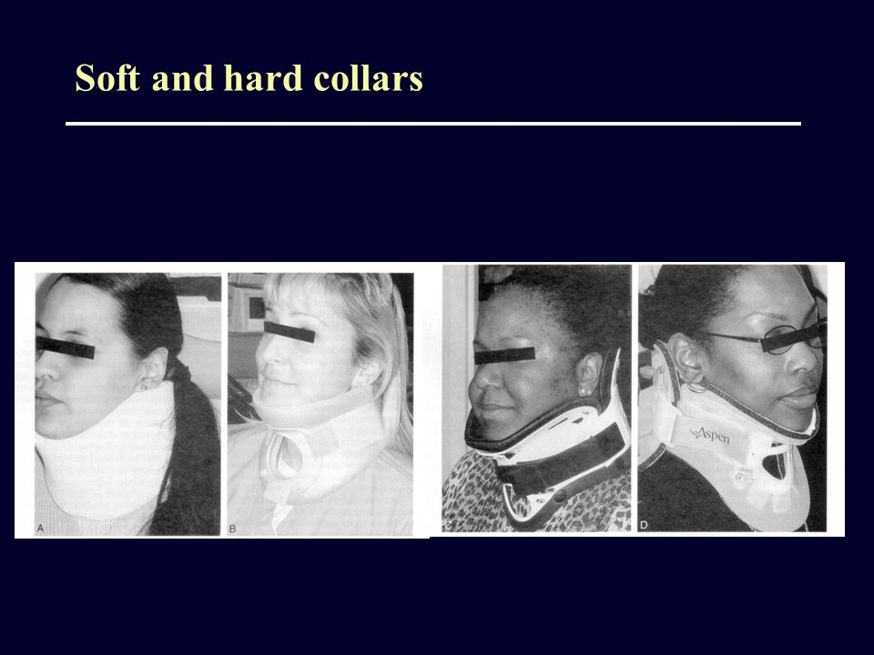 Soft and hard collars