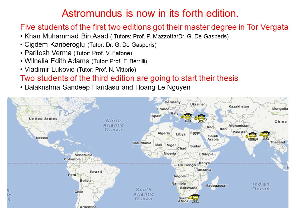 Astromundus is now in its forth edition.