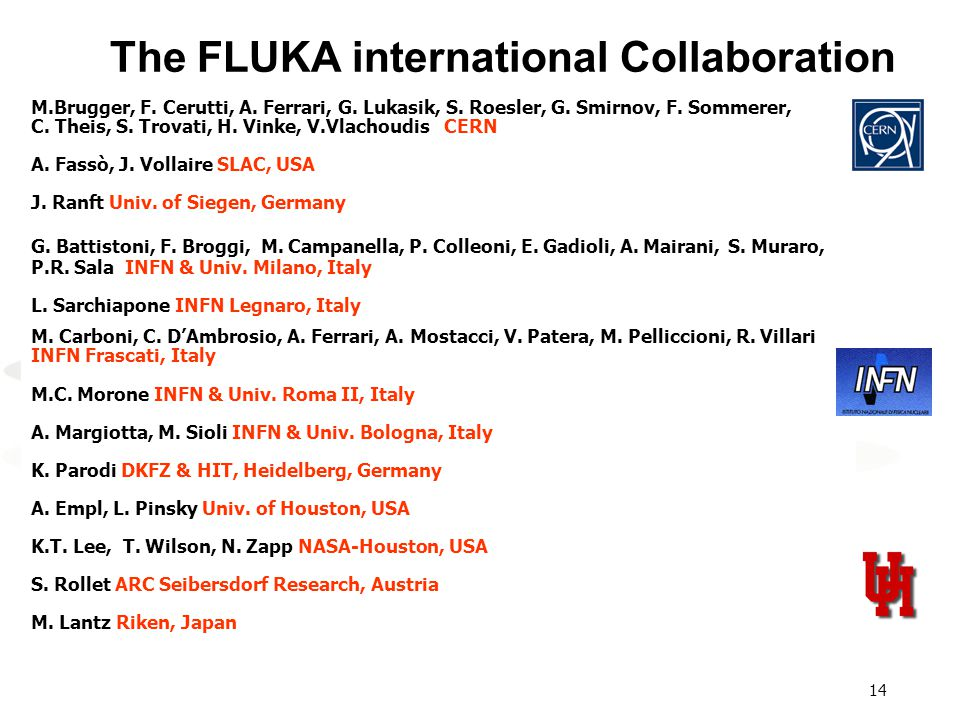 The FLUKA international Collaboration