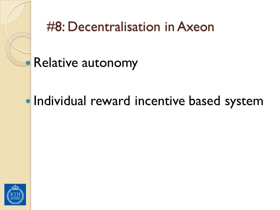 #8: Decentralisation in Axeon