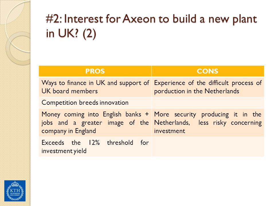 #2: Interest for Axeon to build a new plant in UK (2)