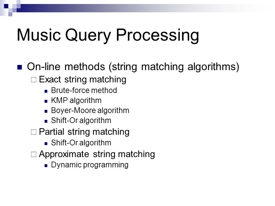 Music Query Processing