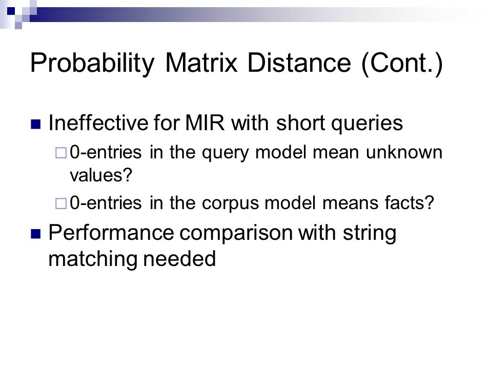 Probability Matrix Distance (Cont.)