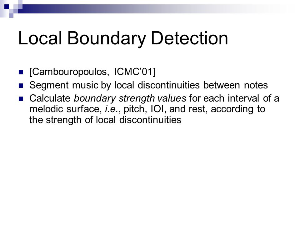 Local Boundary Detection