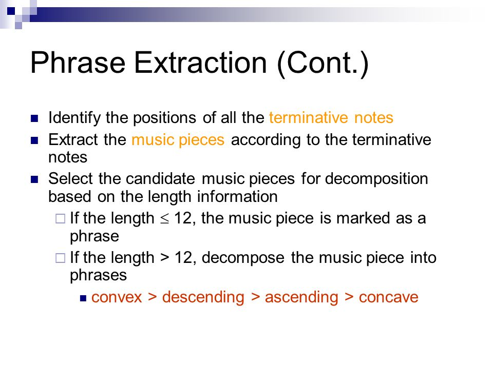 Phrase Extraction (Cont.)