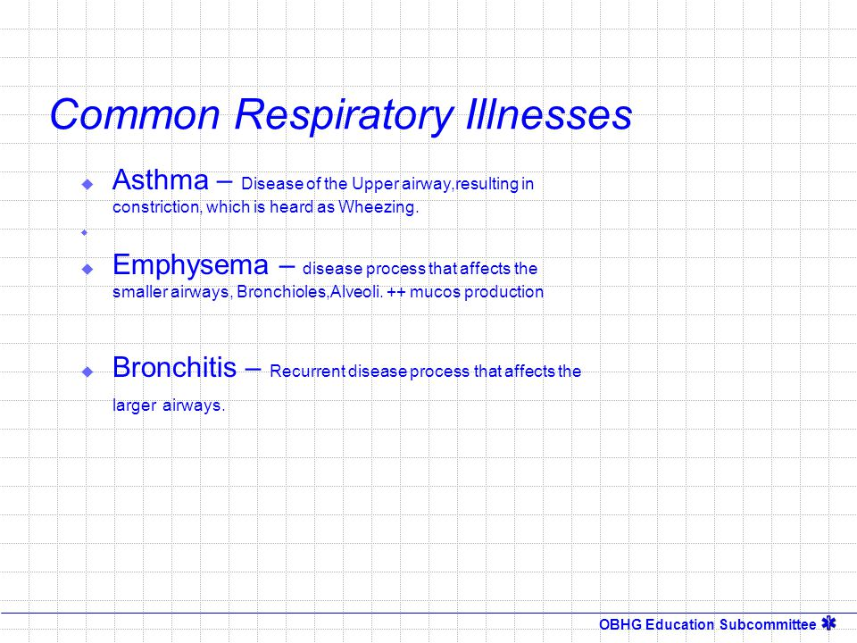 Common Respiratory Illnesses