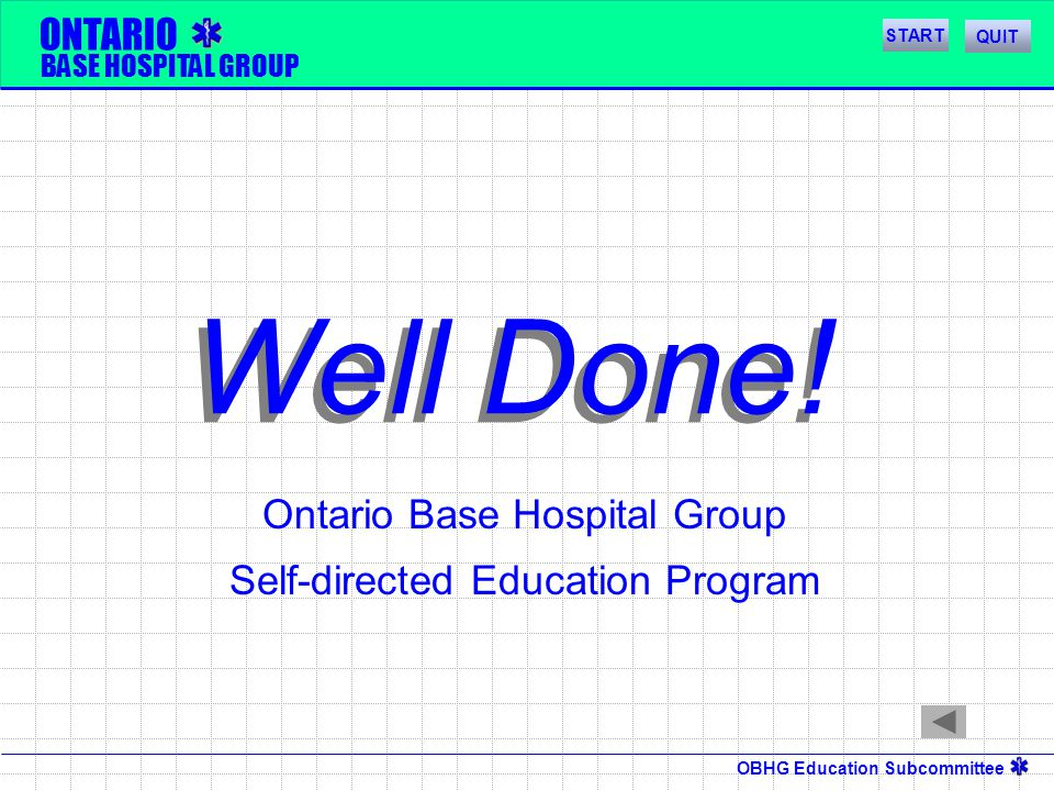 Ontario Base Hospital Group Self-directed Education Program
