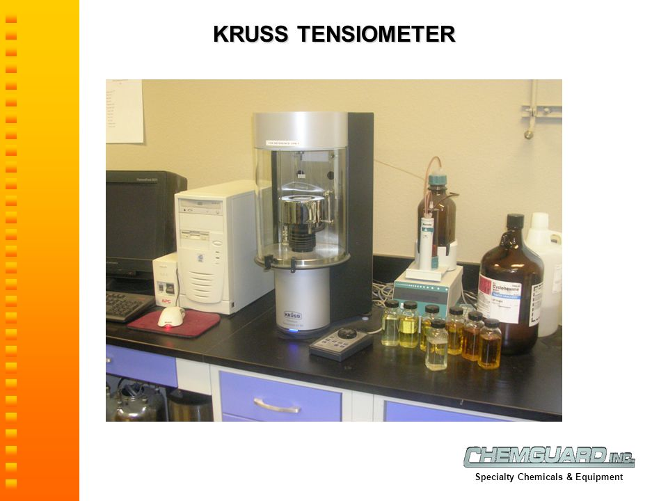 KRUSS TENSIOMETER Specialty Chemicals & Equipment