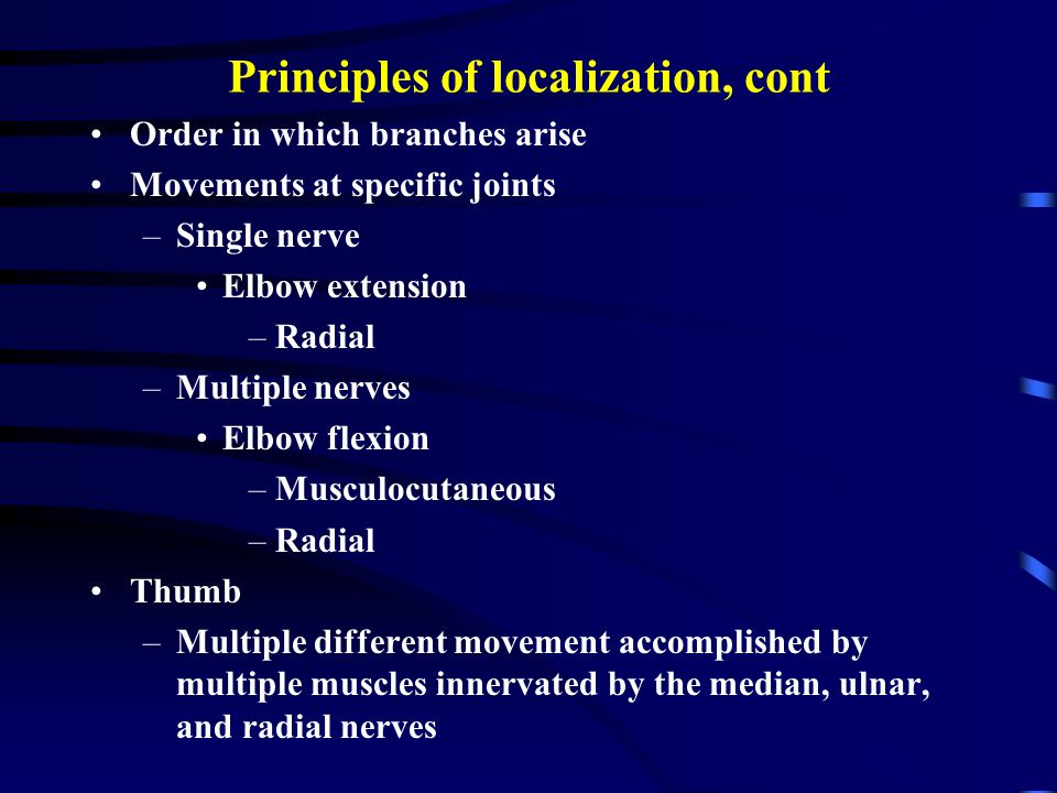 Principles of localization, cont