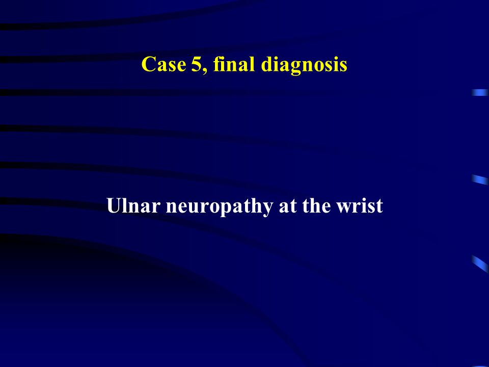 Ulnar neuropathy at the wrist
