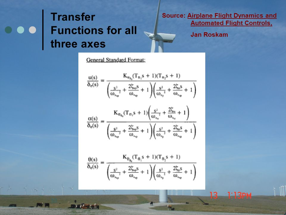 Transfer Functions for all three axes