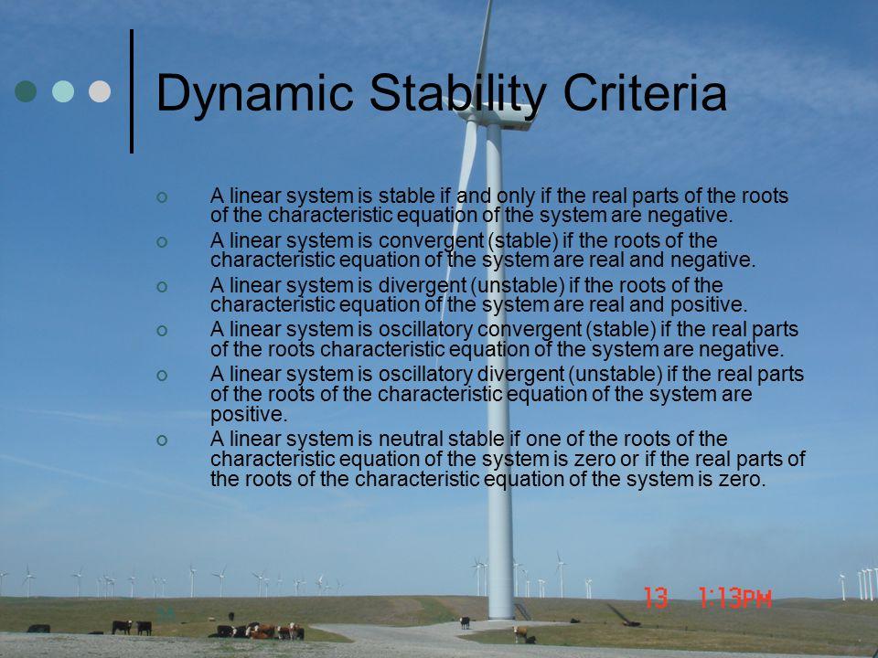 Dynamic Stability Criteria