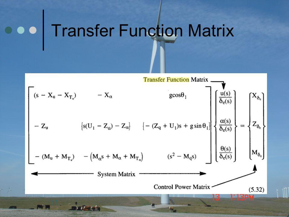 Transfer Function Matrix