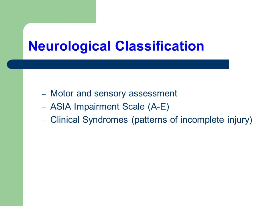Neurological Classification
