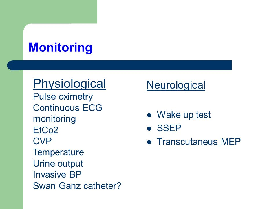 Monitoring Physiological Neurological Pulse oximetry