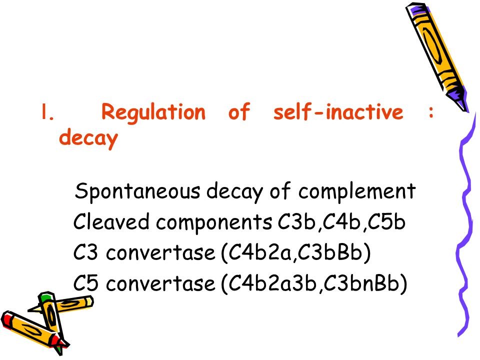 Ⅰ. Regulation of self-inactive : decay