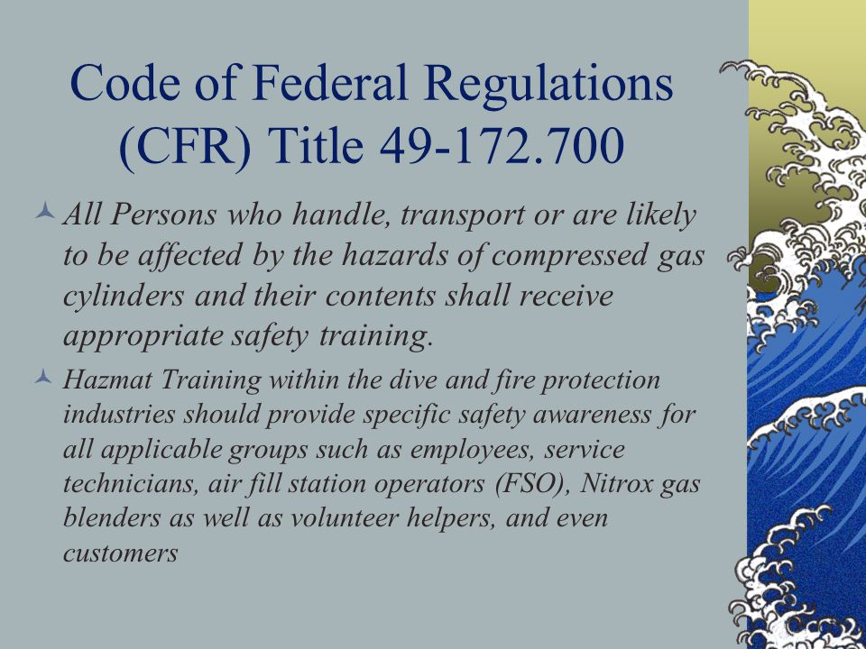 Code of Federal Regulations (CFR) Title 49-172.700