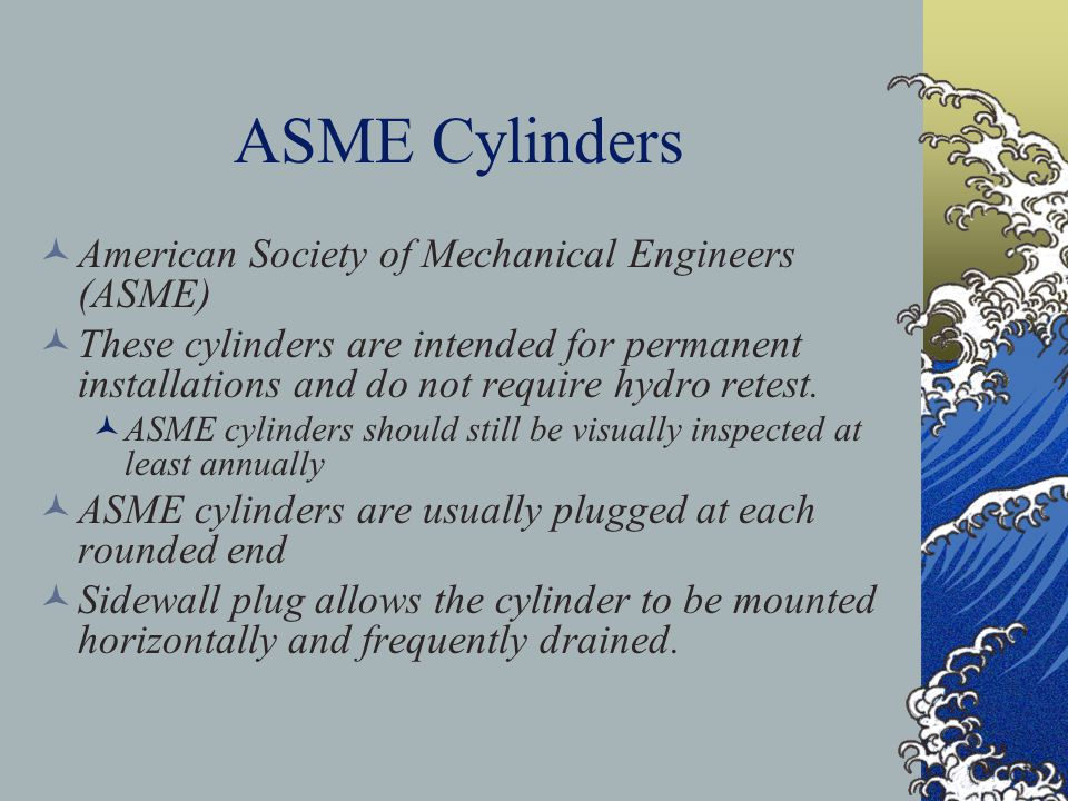 ASME Cylinders American Society of Mechanical Engineers (ASME)