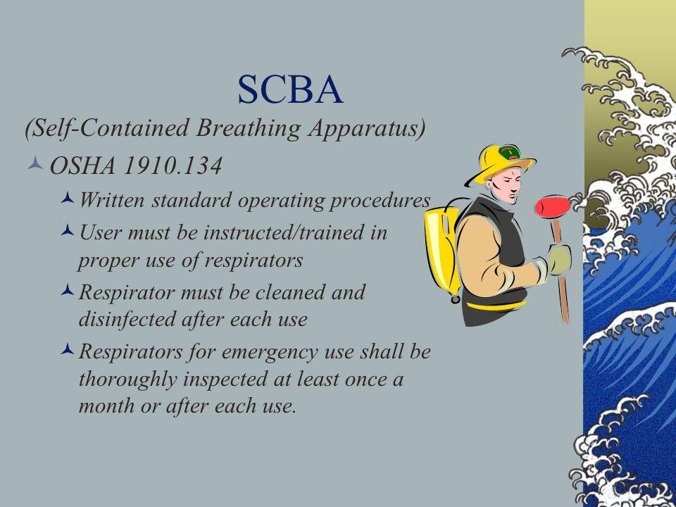 SCBA (Self-Contained Breathing Apparatus) OSHA 1910.134