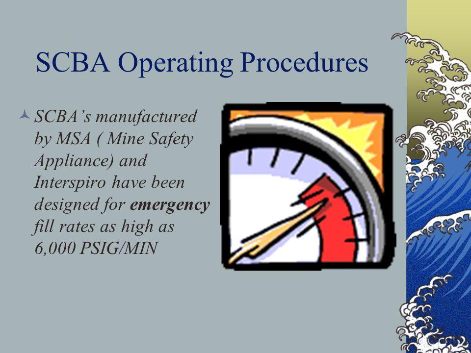 SCBA Operating Procedures