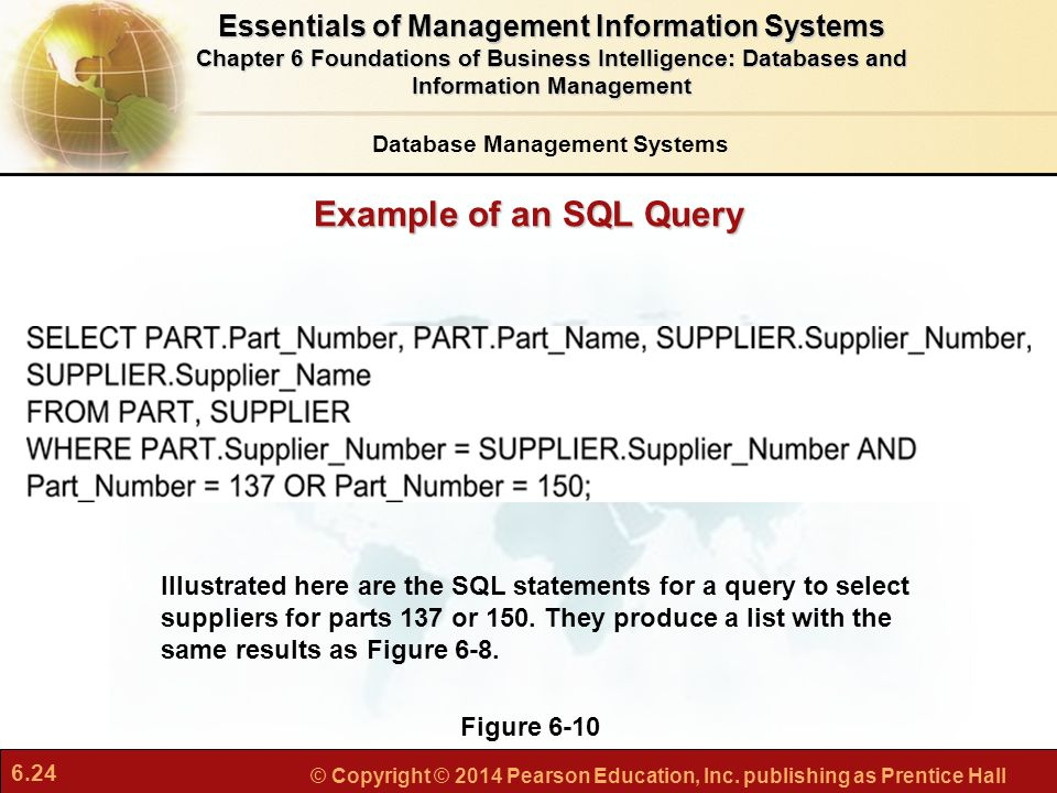 Example of an SQL Query Essentials of Management Information Systems